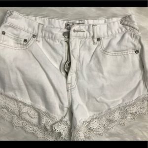 Ladies White Denim Shorts Free People